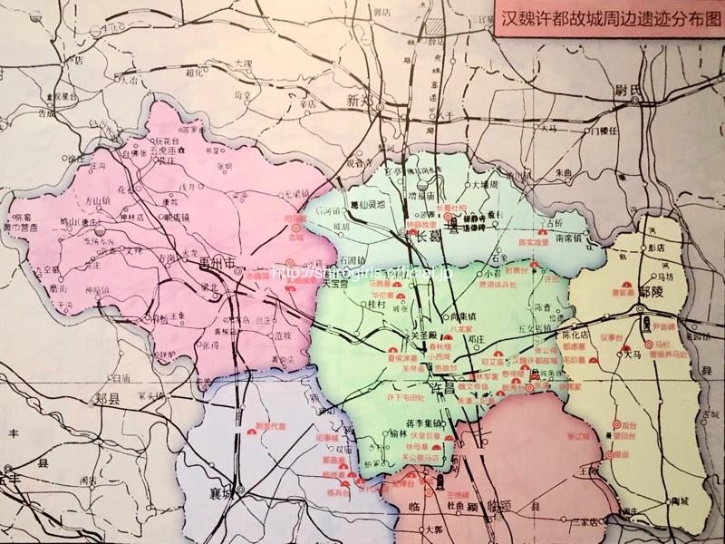 漢魏許都故城周辺遺跡分布図